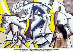 """Roy Lichtenstein's """"The Conversation"""""""