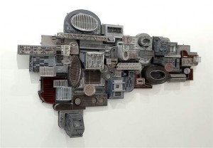"""""""Untitled (Long Gray Construction)"""" by Jane South"""