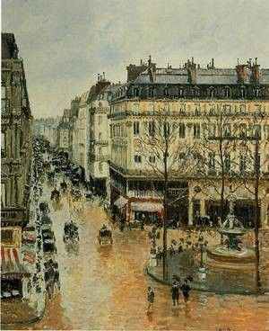 "Pissarro, ""Rue Saint Honore"""