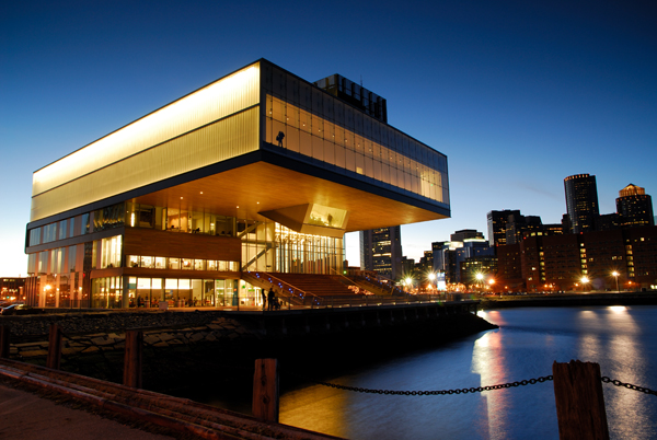 Boston's ICA. Galleries located in the highest rectangular section, far from the entrance.